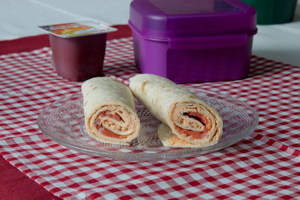 Lunchbox wrap saumon