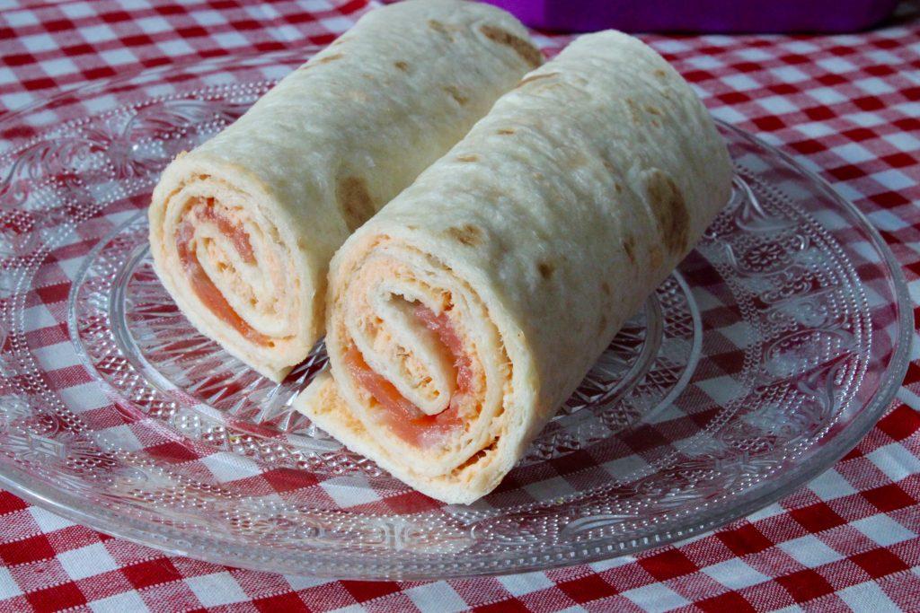 Lunchbox wrap saumon