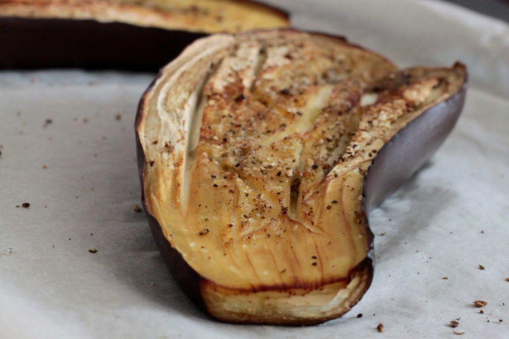 Aubergine grillée burrata