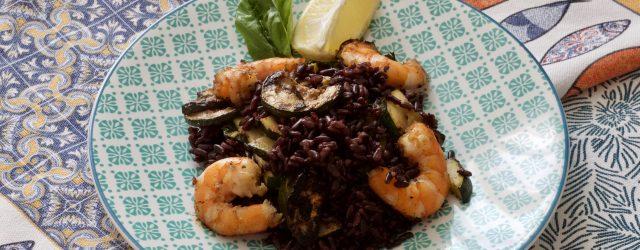 salade au riz noir